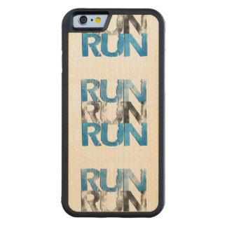 RUN x 3 Runners Carved® Maple iPhone 6 Bumper