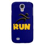 RUN Yellow Galaxy S4 Cases