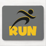RUN Yellow Mouse Pad