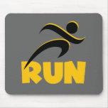 RUN Yellow Mousepads