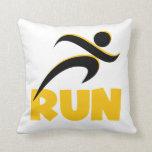 RUN Yellow Pillow