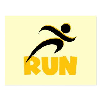 RUN Yellow Postcard