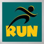 RUN Yellow Poster
