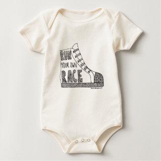 Run your own race Organic Baby Bodysuit