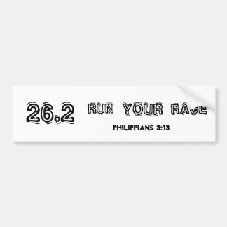"""Run Your Race"" Marathon Bumper Sticker"