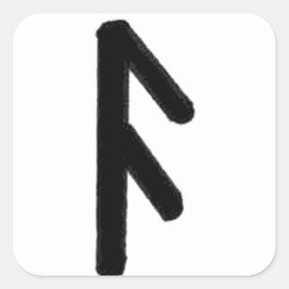 runa del ansuz pegatinas cuadradases