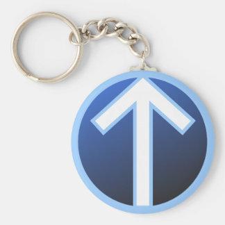 Runa del guerrero de Tiwaz Teiwaz Tyr Llavero Redondo Tipo Pin