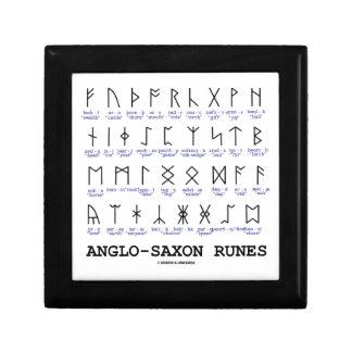 Runas anglosajonas (criptografía de la lingüística joyero cuadrado pequeño