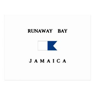 Runaway Bay Jamaica Alpha Dive Flag Postcard