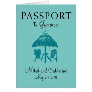 Runaway Bay Jamaica Passport Wedding Invitation