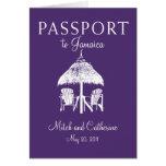 Runaway Bay Jamaica Passport Wedding Invitation Greeting Cards