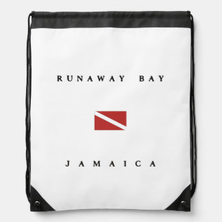 Runaway Bay Jamaica Scuba Dive Flag Drawstring Bag