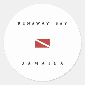 Runaway Bay Jamaica Scuba Dive Flag Stickers