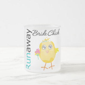 Runaway Bride Chick 10 Oz Frosted Glass Coffee Mug