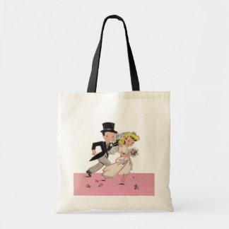 Runaway Bride & Groom Budget Tote Bag