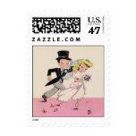 Runaway Bride & Groom Postage