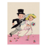 Runaway Bride & Groom Postcard