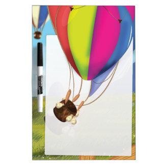 Runaway Cartoon Balloon Dry-Erase Board