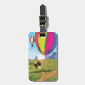 Runaway Cartoon Hot Air Balloon Bag Tag