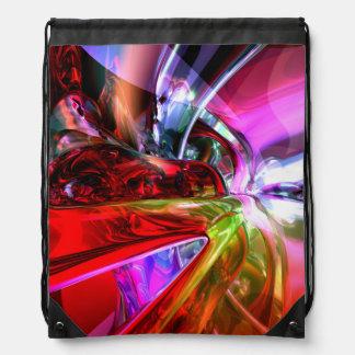 Runaway Color Abstract Drawstring Backpacks