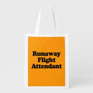 RUNAWAY FLIGHT ATTENDANT - Halloween -.png Reusable Grocery Bag