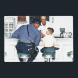 """Runaway Placemat<br><div class=""""desc"""">Artist: Norman Rockwell 