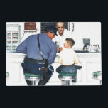 "Runaway Placemat<br><div class=""desc"">Artist: Norman Rockwell 