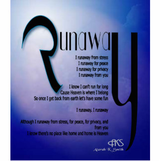Runaway Poem Cutout