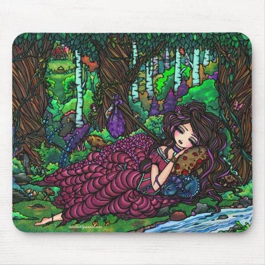 """Runaway Princess"" Fairy Dragon Fantasy Forest Art Mouse Pad"