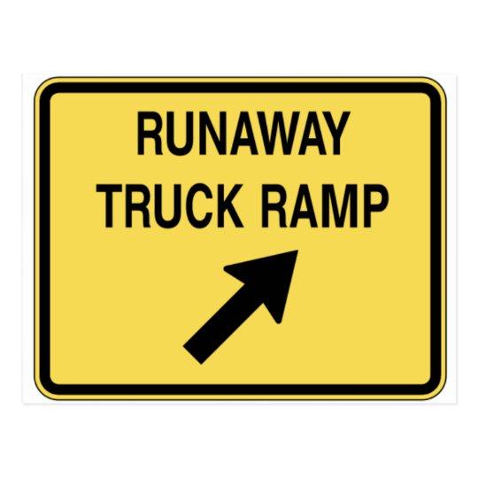 runaway-truck-ramp postcard