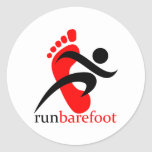 runbarefoot classic round sticker