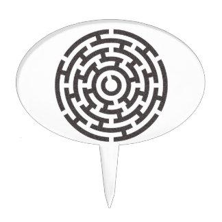 rundes Labyrinth round maze Cake Topper