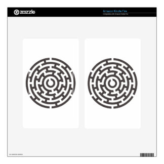 rundes Labyrinth round maze Decals For Kindle Fire