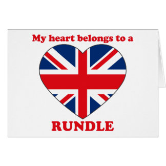 Rundle Greeting Card