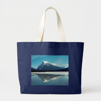 Rundle Mountain, Banff Large Tote Bag