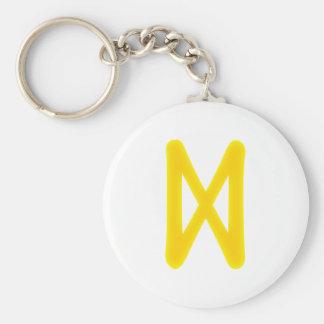 Rune Dagaz Basic Round Button Keychain