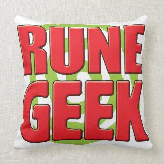 Rune Geek Throw Pillow