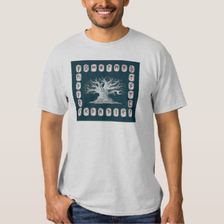 Rune Layout with World Tree T-Shirt
