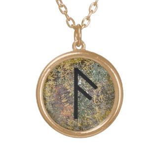 Rune Necklace - Ansuz - Gold