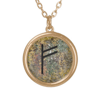 Rune necklace - Fehu - gold