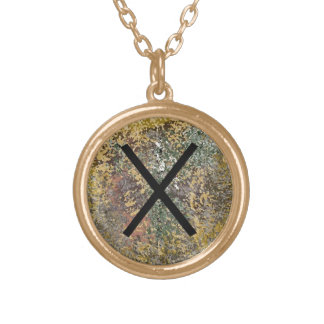 Rune necklace - Gebo - gold