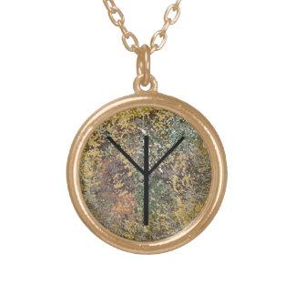 Rune necklace - gold - Algiz  - Protection