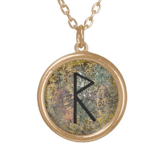 Rune Necklace - gold - Raidho