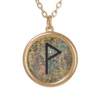 Rune Necklace - Wunjo - gold