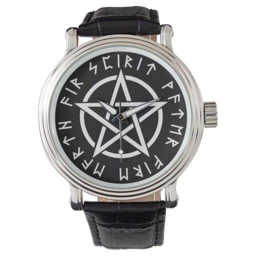 Rune pentagram watch