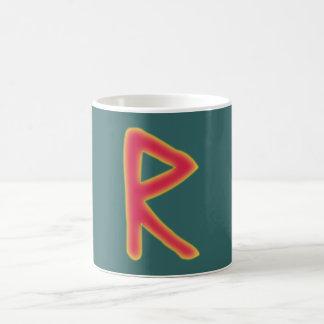 rune Raidho Futhark Taza Clásica
