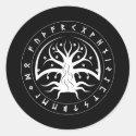 Rune Yggdrasil Stickers (Round)