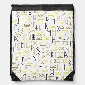 Runes Drawstring Bag
