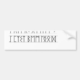 Runes Elder Futhark Bumper Sticker