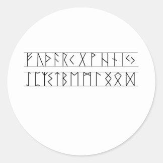 Runes Elder Futhark Classic Round Sticker
